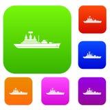 Oorlogsschip vastgestelde inzameling Royalty-vrije Stock Afbeeldingen