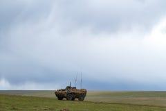 Oorlogsstreek met tanks Royalty-vrije Stock Afbeelding