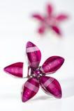 Oorringen in de vorm van een bloem stock foto's