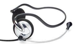 Oortelefoons met microfoon Stock Fotografie
