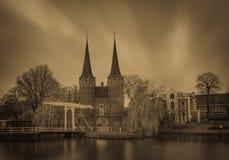 Oospoort de la puerta de la cerámica de Delft Fotos de archivo libres de regalías