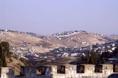 Oost- Jeruzalem mening stock afbeeldingen