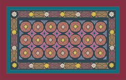 OOSTELIJK, ARABISCH, MIDDEN AZIATISCH, PERZISCH ORNAMENT GEKLEURDE KLEUREN tapijt royalty-vrije illustratie