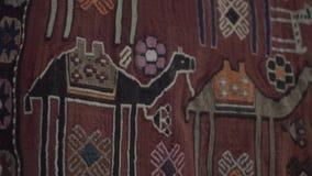 Oostelijk Arabisch tapijt stock video