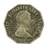 1 oostelijk Caraïbisch omgekeerde van het dollarmuntstuk 1995 stock foto's