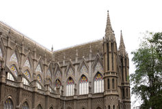 Oostelijk facet van St. Philomena Kerk, Mysore royalty-vrije stock afbeelding