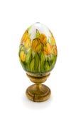 Oostelijk met de hand gemaakt ei, houten, Stock Afbeelding
