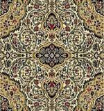 Oostelijk tapijt met traditioneel etnisch decor Royalty-vrije Stock Afbeeldingen