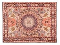 Oostelijk Zijdeachtig Tapijt. Klassiek Arabisch Patroon Stock Foto's