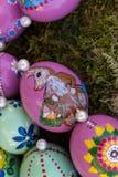 oostelijke eieren met de hand geschilderde 2 royalty-vrije stock foto's