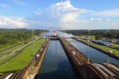 Oostelijke Gateway aan het Kanaal van Panama royalty-vrije stock fotografie