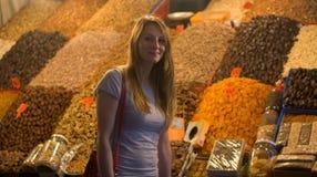Oostelijke markten en hun desserts stock afbeeldingen