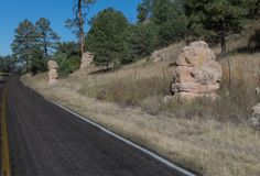 Oostelijke mening, Weg 35, New Mexico Stock Afbeelding