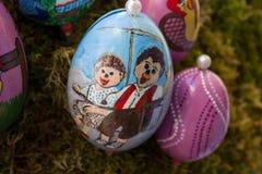 oostelijke met de hand geschilderde eieren stock fotografie