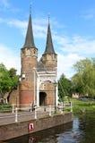 Oostelijke Poort in Delft, Nederland royalty-vrije stock foto's
