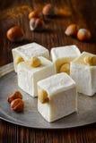 Oostelijke smakelijke oosterse snoepjes of Turkse verrukking Royalty-vrije Stock Afbeelding