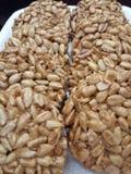 Oostelijke snoepjes, kozinaki, voedsel, zaden stock foto's