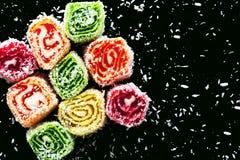 Oostelijke snoepjes op een donkere achtergrond Royalty-vrije Stock Foto