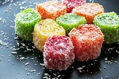Oostelijke snoepjes op een donkere achtergrond Royalty-vrije Stock Afbeelding