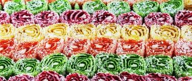 Oostelijke snoepjes, panorama Royalty-vrije Stock Afbeelding