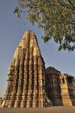 Oostelijke Tempels van Khajuraho, India - Unesco-de plaats van de werelderfenis, Stock Fotografie