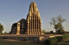 Oostelijke Tempels van Khajuraho, India - Unesco-de plaats van de werelderfenis, Stock Afbeeldingen