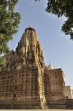 Oostelijke Tempels van Khajuraho, Khajuraho, India - Unesco-plaats. Royalty-vrije Stock Foto