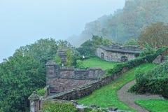 Oostelijke tuin van het kasteel van Heidelberg, Duitsland Stock Afbeeldingen