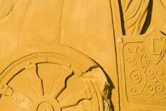 OOSTENDE, BELGIË als thema gehade zandkastelen, stock foto