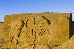 OOSTENDE, BELGIË als thema gehade zandkastelen, royalty-vrije stock fotografie