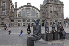 Oostende Station, Ostend, Belgium Royalty Free Stock Images