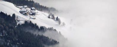 Oostenrijk. Alpen. De skitoevlucht van Shmittenhorn royalty-vrije stock foto