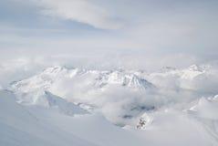 Oostenrijk. Alpen. De toevlucht van de de gletsjerski van Kaprun royalty-vrije stock afbeeldingen