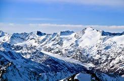 Oostenrijk, Alpen, skitoevlucht van Neustift, gletsjer Stubai de hoogte van 3210m Stock Afbeeldingen