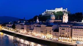 Oostenrijk, Salzburg, Festung Hohensalzburg Stock Foto's