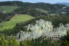 Oostenrijk, Semmering-Spoorweg royalty-vrije stock foto's