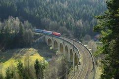 Oostenrijk, Semmering-Spoorweg royalty-vrije stock fotografie