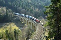 Oostenrijk, Semmering-Spoorweg royalty-vrije stock afbeeldingen