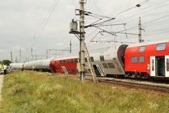 Oostenrijk, Spoorwegongeval stock afbeeldingen