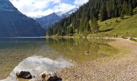 Oostenrijk, Tannheim, Meer Vilsalp stock foto
