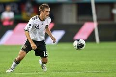 Oostenrijk versus Duitsland Stock Foto