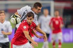 Oostenrijk versus Duitsland Royalty-vrije Stock Foto