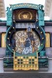 Oostenrijk, Wenen, de klok van Anker Stock Foto