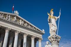 Oostenrijk, Wenen, het Parlement, stock afbeelding