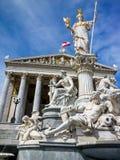 Oostenrijk, Wenen, het Parlement Stock Foto