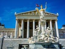 Oostenrijk, Wenen, het Parlement Stock Afbeeldingen