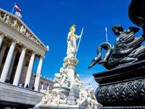 Oostenrijk, Wenen, het Parlement Royalty-vrije Stock Foto