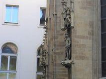 Oostenrijk, Wenen, uitstekende architectuur van steenmuren van gebouwen royalty-vrije stock foto's