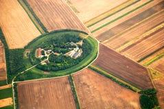 Oostenrijks die landschap van een vliegtuig wordt gezien Royalty-vrije Stock Fotografie