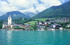 Oostenrijks dorp royalty-vrije stock afbeeldingen